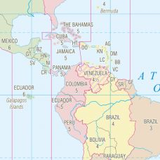 Michael Tompsett Time Zones Map of the World Black Matte Wood