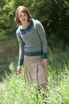 Downton Pullover - Knitting Daily  The new issue of Interweave Knits for Fall looks great!