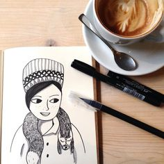 I actually like drawing in winter and autumn because there are so many lovely ways to dress. . . . . #illustration #illustrationoftheday  #morningdoodle #handlettering #drawing  #typography  #draweveryday #instaartist  #illustratorsofinstagram #art_we_inspire #fakefur #womanwithhat  #inspiration #makersmovement  #coffeelove #morningcoffee #artjournal #simplepleasure #constanzeguhr #bookworm #berlinillustration #bookillustration #book #bücherwurm  #booklover