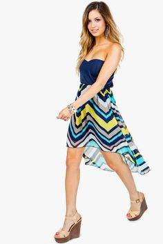 Zig Zag Chevron Hi Lo Dress A'GACI $32.50  I own this dress and I LOVE IT!!
