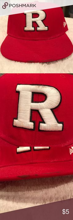 Rutgers fitted cap. 😎 Fair condition. Marks in places as shown in pictures. 7 1/4 57.7 cm. Accessories Hats