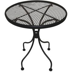 Outdoor End Table Patio Side Furniture Bar Lawn Deck Wrought Iron Metal Round #DCAmerica