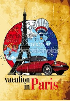 Vacation in Paris grunge © Gennady Poddubny