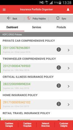 HDFC ERGO Insurance Portfolio- screenshot