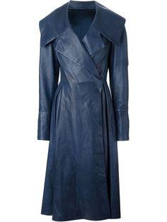 Liska double breasted flared coat