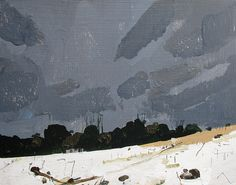 After the Storm, Forest Return, Original Spring Landscape Painting on Panel, Stooshinoff