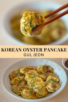 Plump pan-fried battered oysters that are lightly crisp but juicy and flavorful in just a couple of minutes. Baked Oyster Recipes, Prawn Recipes, Entree Recipes, Seafood Recipes, Asian Recipes, Healthy Recipes, Ethnic Recipes, Korean Food Side Dishes, Gastronomia
