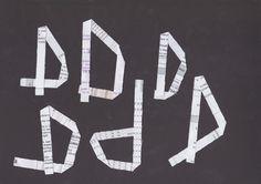 Ik weet welke letters ik nodig heb. Maar welke vorm er best past in het geheel weet ik niet op voorhand..