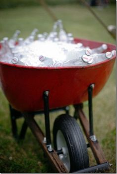 LOVE IT! great idea for an outdoor icechest!