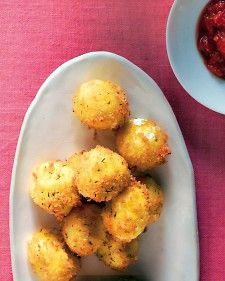 Fry fresh Italian mozzarella balls