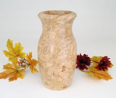 Maple Burl Vase by DebsWoodshop on Etsy, $45.00