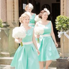 Seafoam bridesmaids dresses :) @Sarah Chintomby Chintomby Allan LOVE the dress design :)