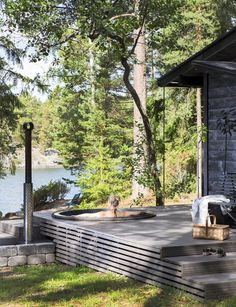 Cabins In The Woods, Pool Houses, Backyard Patio, Exterior Design, Future House, Outdoor Gardens, Outdoor Living, Lap Pools, Indoor Pools