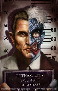 Gotham City Mugshots: Two-Face by pinkhavok.deviantart.com on @deviantART