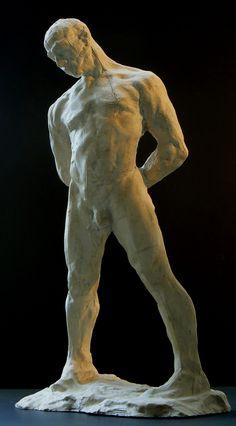Sculpture l'Athlète de l'artiste lillois Guy Le Perse