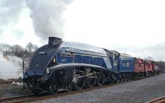 Class A4, Sir Nigel Gresley Brake Van Train. Shildon 24.02.2014. Pic 1.