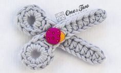 Scissors Applique – Free Crochet Pattern | One and Two Company Crochet Blog