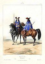 Mousquetaires du roi en 1660