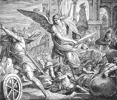 Bilder der Bibel - Sanheribs Macht gebrochen - Julius Schnorr von Carolsfeld