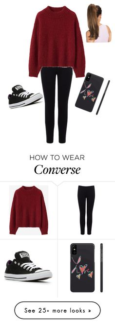 """""""Lazy day at home. Maybe having to go somewhere"""" by cabellasmith on Polyvore featuring Warehouse, Converse and LovelyLoungewear"""