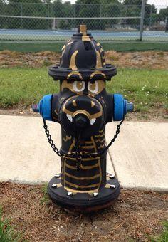 Cameron Dragon fire hydrant standing guard at the Cameron Intermediate School