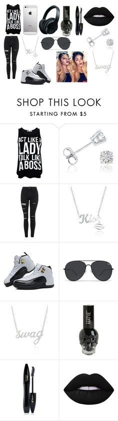 """""""Act Like A Lady Talk Like A Boss"""" by breezybrebre on Polyvore featuring beauty, Amanda Rose Collection, Topshop, Belk & Co., TAXI, Lancôme, Lime Crime and Samsung"""