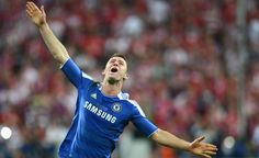 Chelsea's British defender Gary Cahill celebrates after the UEFA Champions League final football match between FC Bayern Muenchen and Chelsea FC on May 19, 2012 at the Fussball Arena stadium in Munich.