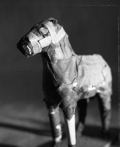 papier mache horse {creepy,might i add.