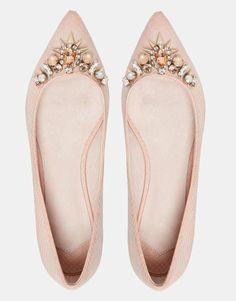 Image 3 of Faith Garden Embellished Flat Pointed Shoes