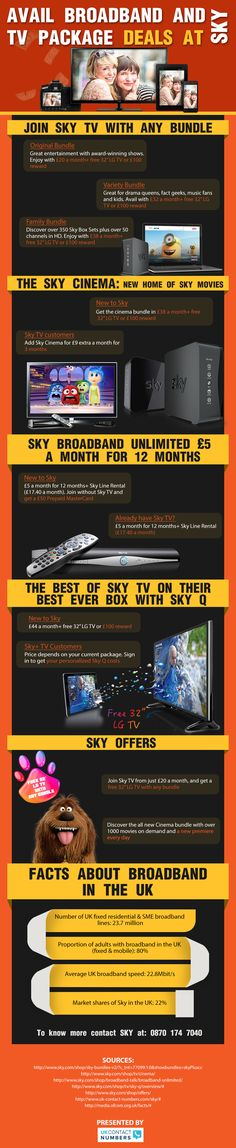 Enjoy The Best #TV Package Deals With #Sky – #Infographic