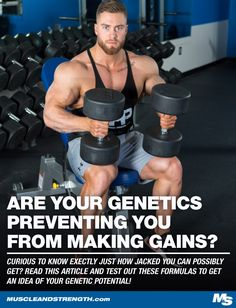 Curious to know exactly just how jacked you can possibly get? Read this article and test out these formulas to get an idea of your genetic potential!