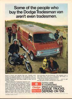 1973 Dodge Tradesman Van Advertisement Motor Trend November 1973