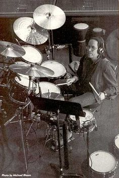 Great pic of Jeff with his kit - laying down in studio