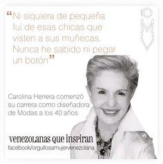 #CarolinaHerrera #Mujeres #Venezolanas #OrgullosaMujerVenezolana #MujeresQueInspiran