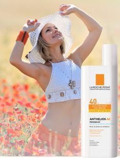 Proteção Solar com Dupla Ação Anti-brilho  O brilho da pele é imediatamente absorvido e controlado de forma duradoura. A pele se torna matificada.   http://www.dermocare.com.br/comprar/anthelios-ac-fps-40-fluide-extreme-50-ml.html