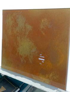 CORTEN effect on Glass by Giorgio Gennari