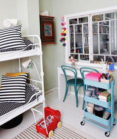 Hauskat ideat lastenhuoneeseen – maalaa lattia liitutauluväreillä tai rakenna leikkisä sisäikkuna
