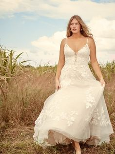 Ellen by Rebecca Ingram A nature-inspired ball gown wedding dress for pure enchantment. Tiffany's Bridal, Bridal Gowns, Wedding Gowns, Tulle Wedding, Wedding Cards, Wedding Venues, Blush Gown, Bridal Gallery, Maggie Sottero Wedding Dresses