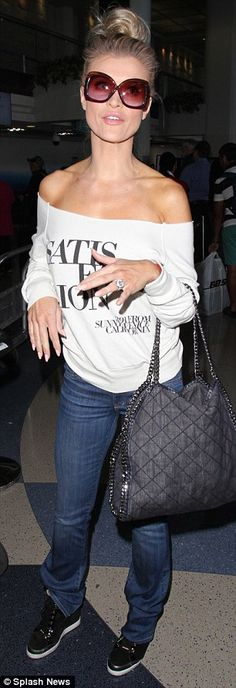 Flight face off: Enemies Joanna Krupa and Brandi Glanville ended up on the same flight from Los Angeles to Miami on Thursday