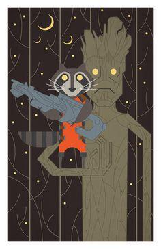 Rocket Raccoon & Groot by Matt Reedy | HW