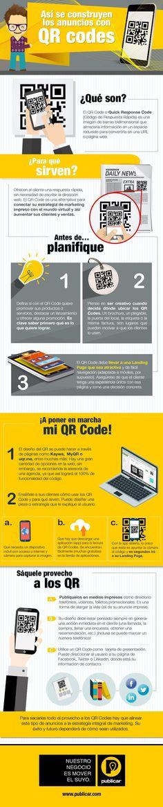 Cómo hacer anuncios con Códigos QR #infografia #infographic #marketing | TICs y Formación