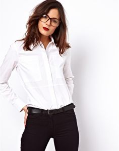 Image 1 of ASOS Shirt With Textured Panels