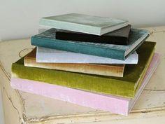 Gorgeous velvet photo albums - get those smartphone pics developed make a family album for grandma!