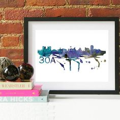 Your place to buy and sell all things handmade Cityscape Art, Skyline Art, Couple Gifts For Her, Watercolor Map, Grandparent Gifts, Baby Nursery Decor, Beach Art, Engagement Gifts, Valentine Gifts