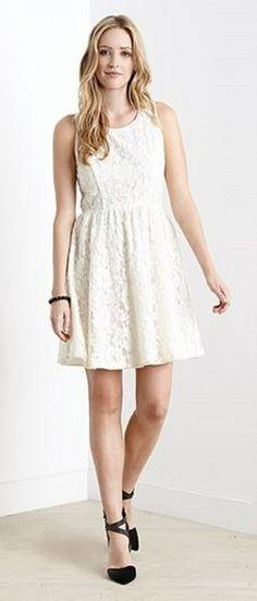 Super Cute Summer Whites! Summer 2014 White Lace Fashion #Cute #Summer_2014 #White_Lace #Fashion