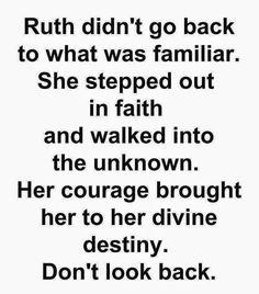 Step out in Faith....