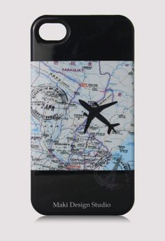 Map Stamp and Airplane iPhone Case  http://rstyle.me/~1c3VZ