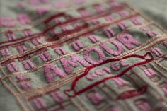 DIY GRAND AMOUR HOTEL - lovely embroidery project for when I have BEAUCOUP de spare time!!