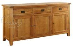 Vancouver Oak Buffet - 3 Door 3 Drawer