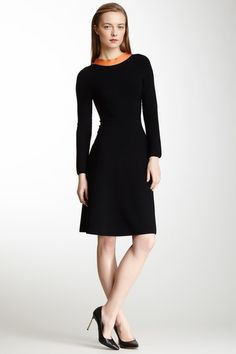Giorgio Armani Contrast Strapped Back Sheath Dress on @HauteLook $539, down from $2156. js